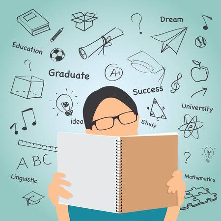 education concept: Education concept. Illustration