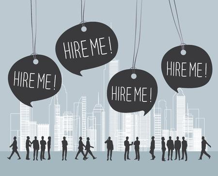business leadership: unemployment Illustration