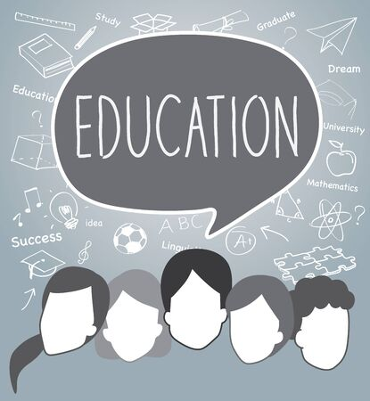 education concept: People of Education concept.