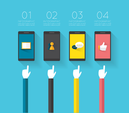 mobile marketing: Modern infographic for business project