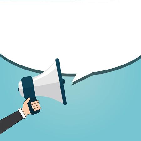 unrecognizable person: Speaking businessman Illustration