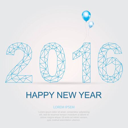 happy new year: Happy new year 2016 Illustration