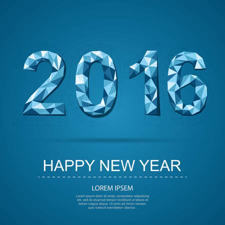 festival: Happy new year 2016 Illustration