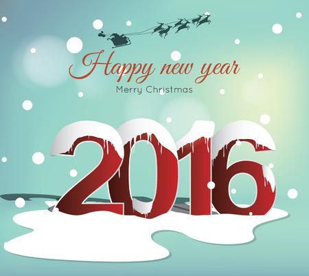 New Year: Szczęśliwego nowego roku 2016 Ilustracja
