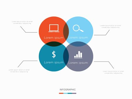option key: Modern infographic for business project