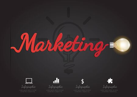 option key: Infographic for marketing concept