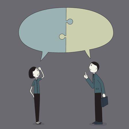 explaining: Businessman explaining Illustration
