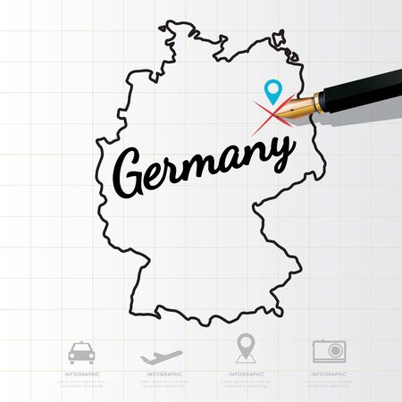 physical geography: Germany map Infographic