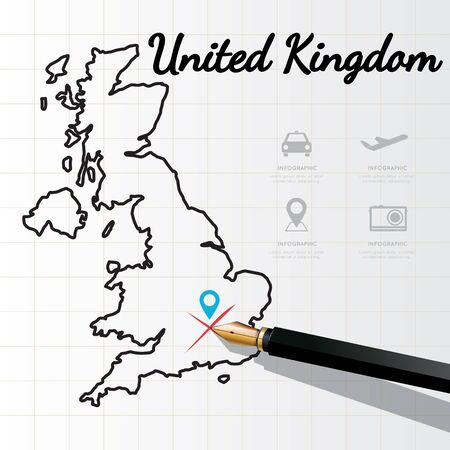 of the united kingdom: United Kingdom map Infographic