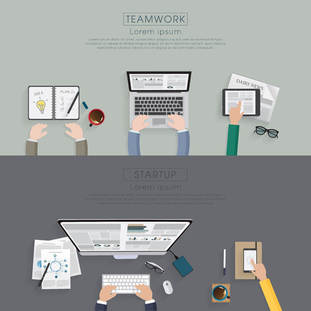 workspace: Workspace for business startup concept.