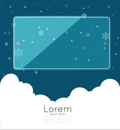 copyspace: Copyspace with cloudspace and snow Illustration
