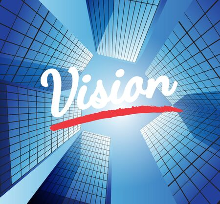 target thinking: Vision concept with abstract background Illustration