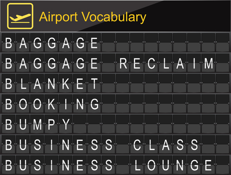 business class travel: Airport Vocabulary on airport boarding