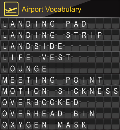 boarding: Airport Vocabulary on airport boarding