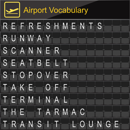 navigational light: Airport Vocabulary on airport boarding