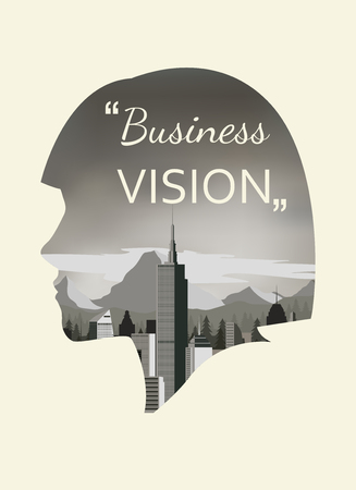 exposure: Double exposure vector for business vision