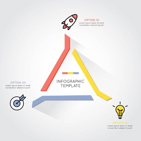 modern business: Modern triangle infographic for business project