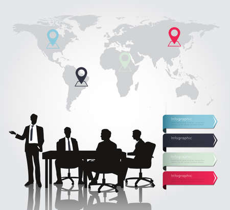 modern business: Business meeting with Modern infographic