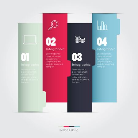 modern business: Modern infographic for business project
