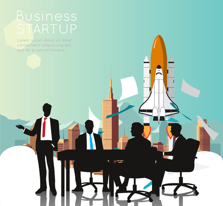space shuttle: Business meeting with Space Shuttle for business startup