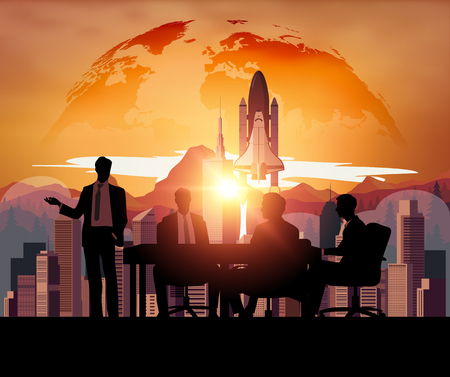 space shuttle: Business meeting with Space Shuttle