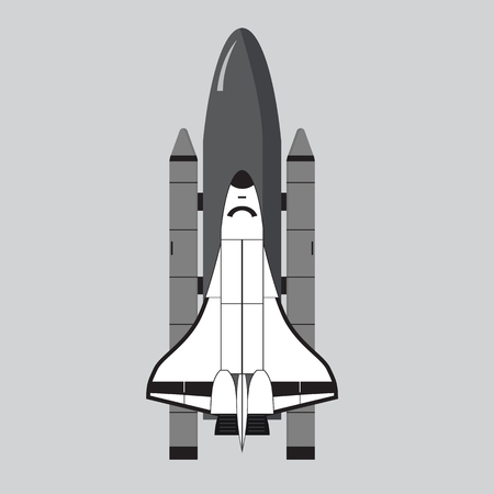 space shuttle: Space Shuttle illustration isolated on gray