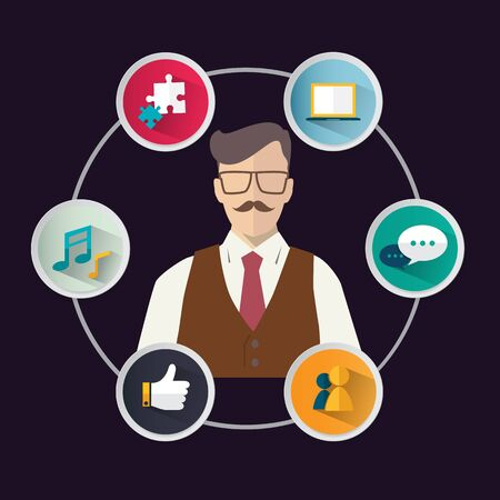 modern business: Modern infographic for business concept. Illustration