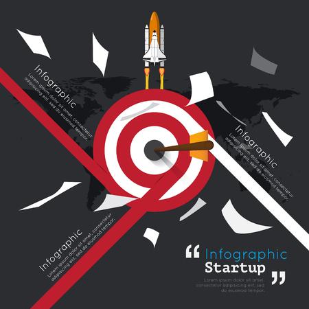 smart goals: Modern infographic for business startup Illustration