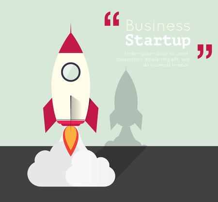 smart goals: the rocket for business startup concept