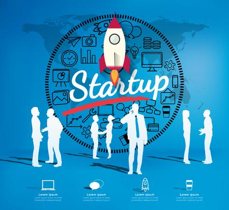 modern business: Modern infographic for business startup Illustration
