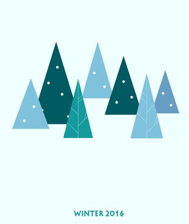 christmas tree illustration: christmas tree over blue background. vector illustration
