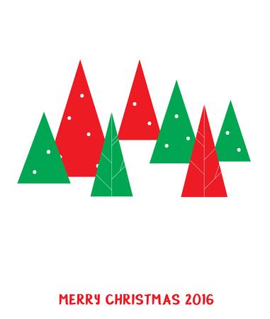 christmas tree illustration: christmas tree over white background. vector illustration