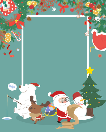 copyspace: Cute Christmas character with copyspace