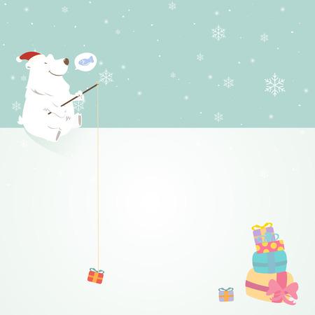 copyspace: Polar bear with white copyspace.