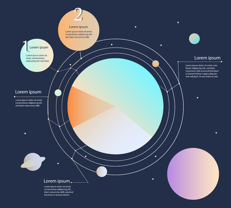 modern business: modern business infographic space circle. Illustration