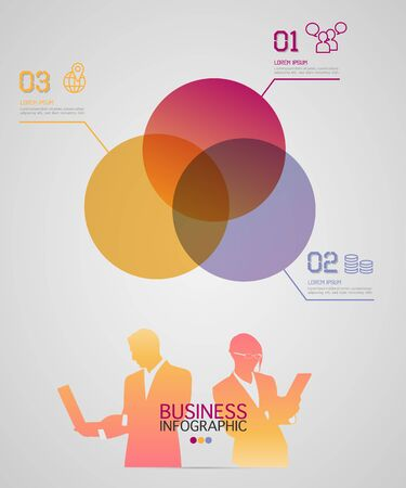 modern business: Modern business infographic with businessman