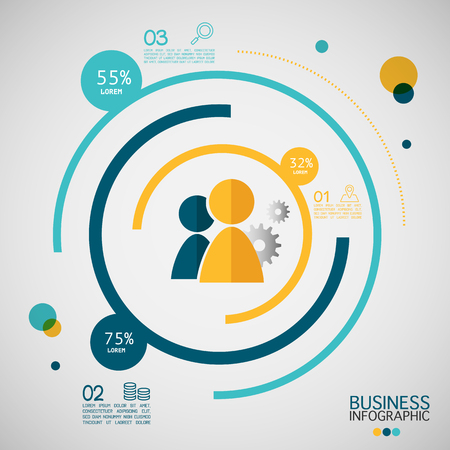 modern business: Modern business infographic 3 options.