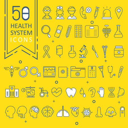 Modern medical icon set.vector illustrator Illustration