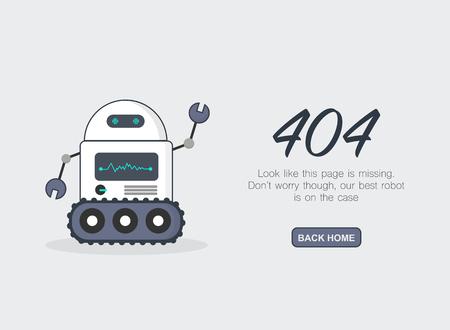 페이지를 찾을 수 없음 오류 404.Vector 템플릿
