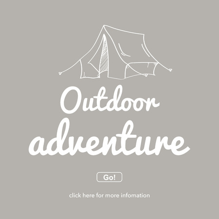 camping site: Outdoor adventure.Travel and adventure concept.