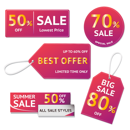 Sale banner template design.Vector illustration. Illustration