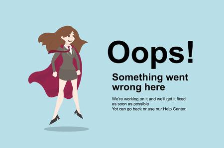 Pagina niet gevonden Fout 404.Vector sjabloon