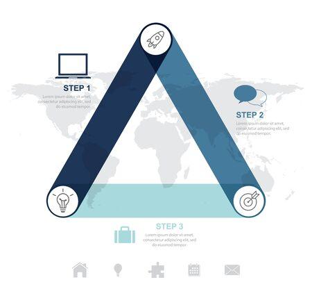 Modern business infographic Vector illustration.