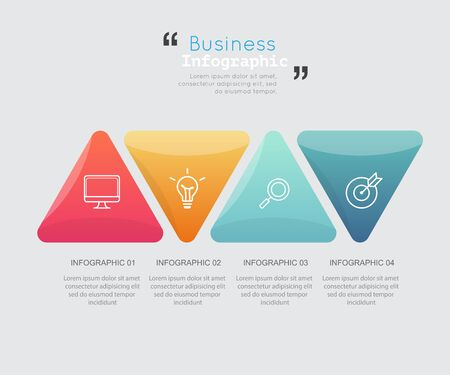 Modern business infographic Vector illustration. Stock Photo