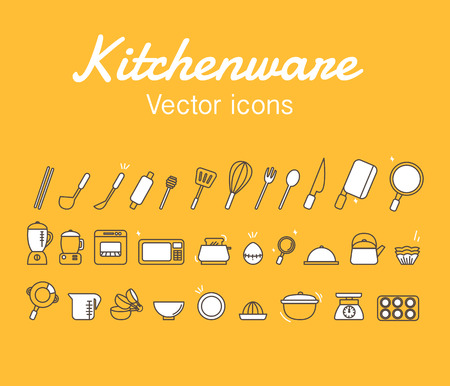 Kitchenware Icons Design Set.Vector Illustration