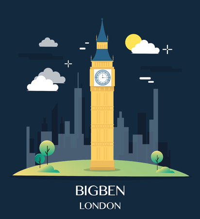 bigben: Famous London Landmark Bigben Illustration. Illustration