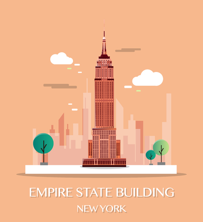 Empire State Building.Vector Illustration. Vectores