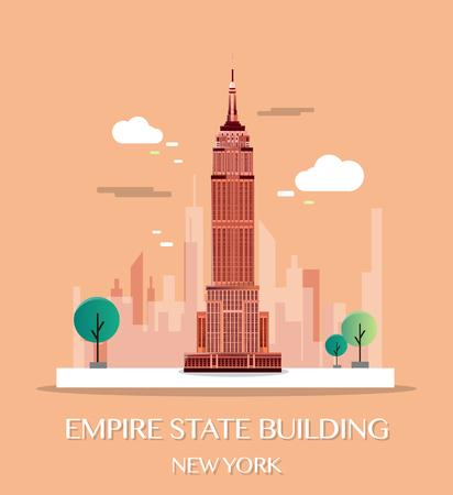 Empire State Building.Vector illustrazione.
