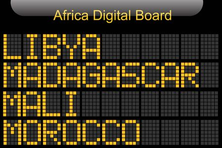 Africa Country Digital Board Information Imagens - 78744710