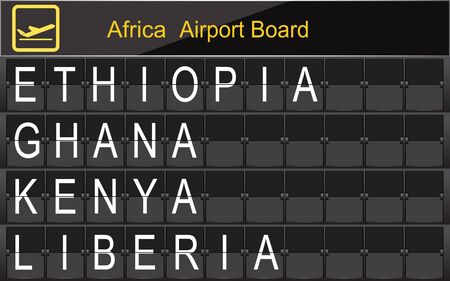 Africa Country Airport Board Information